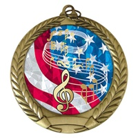 "2-3/4"" Music USA Mylar Medal MM292-MY516"