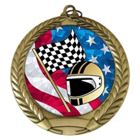 "2-3/4"" Racing USA Mylar Medal MM292-MY517"