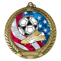 "2-3/4"" Soccer USA Mylar Medal MM292-MY518"