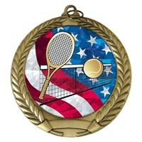 "2-3/4"" Tennis USA Mylar Medal MM292-MY520"
