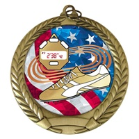 "2-3/4"" Track USA Mylar Medal MM292-MY521"