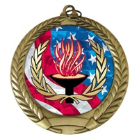 "2-3/4"" Victory USA Mylar Medal MM292-MY522"