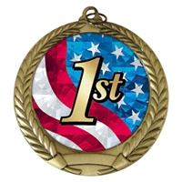 "2-3/4"" First Place USA Mylar Medal MM292-MY525"