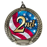 "2-3/4"" Second Place USA Mylar Medal MM292-MY526"