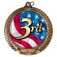 "2-3/4"" Third Place USA Mylar Medal MM292-MY527"