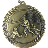 "2-3/4"" Football Medal MS106"