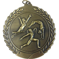 "2-3/4"" Female Gymnastics Medal MS108"