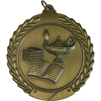 "2-3/4"" Lamp of Knowledge Medal MS112"