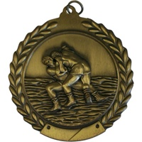 "2-3/4"" Wrestling Medal MS118"