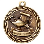 "2"" Scholastic Academic Excellence Medal MS300"