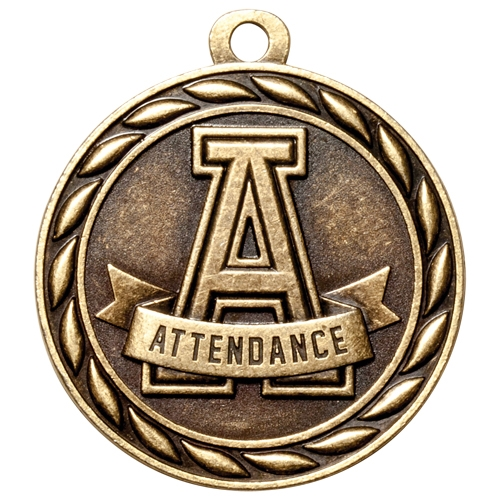 "2"" Scholastic Attendance Medal MS302"