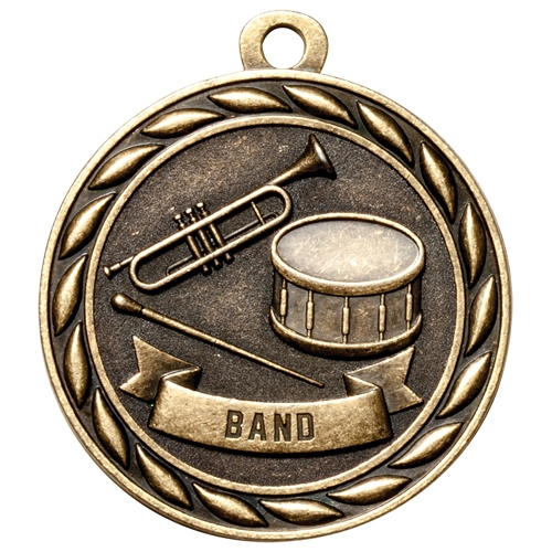 "2"" Scholastic Band Medal MS303"