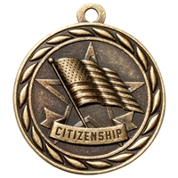 "2"" Scholastic Citizenship Medal MS305"