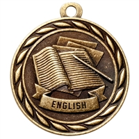 "2"" Scholastic English Medal MS307"