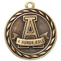 "2"" Scholastic A Honor Roll Medal MS311"