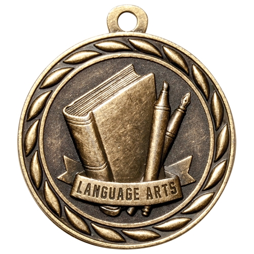 "2"" Scholastic Language Arts Medal MS314"