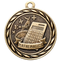 "2"" Scholastic Mathematics Medal MS316"