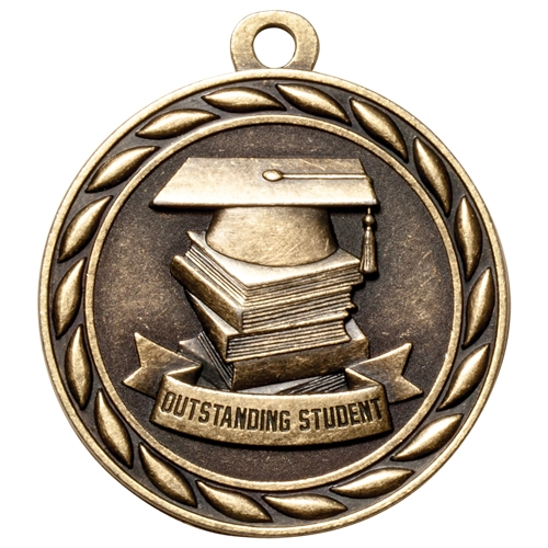 "2"" Scholastic Outstanding Student Medal MS319"