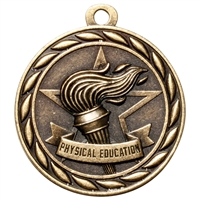 "2"" Scholastic Physical Education Medal MS323"