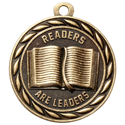 "2"" Scholastic Readers Are Leaders Medal MS325"