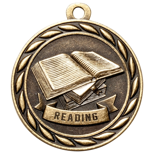 "2"" Scholastic Reading Medal MS326"