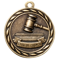 "2"" Scholastic Student Council Medal MS330"