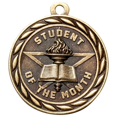 "2"" Scholastic Student of the Month Medal MS331"