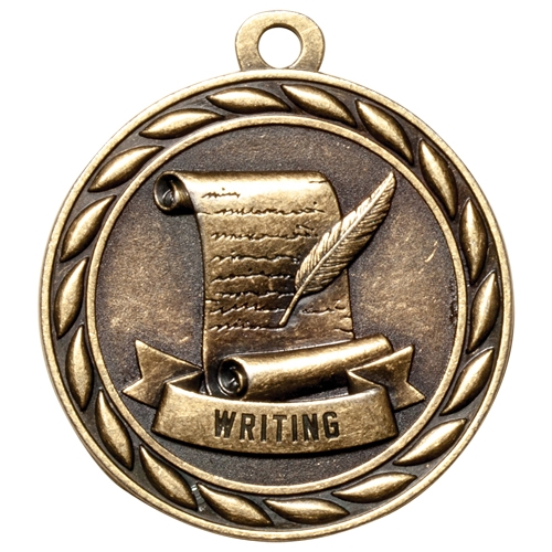 "2"" Scholastic Writing Medal MS332"