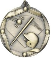 "2-1/4"" Baseball Medal MS602"