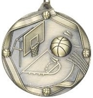 "2-1/4"" Basketball Medal MS603"