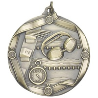 "2-1/4"" Swimming Medal MS614"