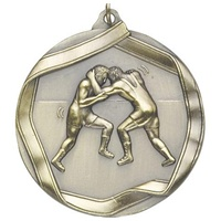 "2-1/4"" Wrestling Medal MS618"