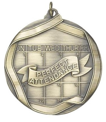 "2-1/4"" Perfect Attendance Medal MS660"