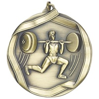 "2-1/4"" Male Weight Lifter Medal MS664"