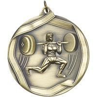 "2-1/4"" Female Weight Lifter Medal MS666"