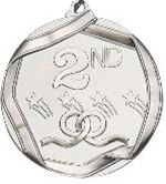 "2-1/4"" Second Place Medal MS692AS"