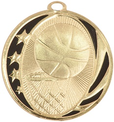 "2"" MidNite Star Series Basketball Medal MS702"