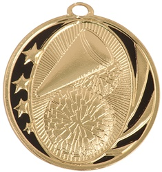 "2"" MidNite Star Series Cheerleading Medal MS703"