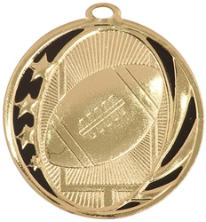 "2"" MidNite Star Series Football Medal MS704"