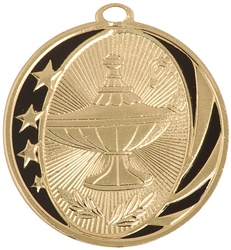 "2"" MidNite Star Series Lamp of Knowledge Medal MS706"