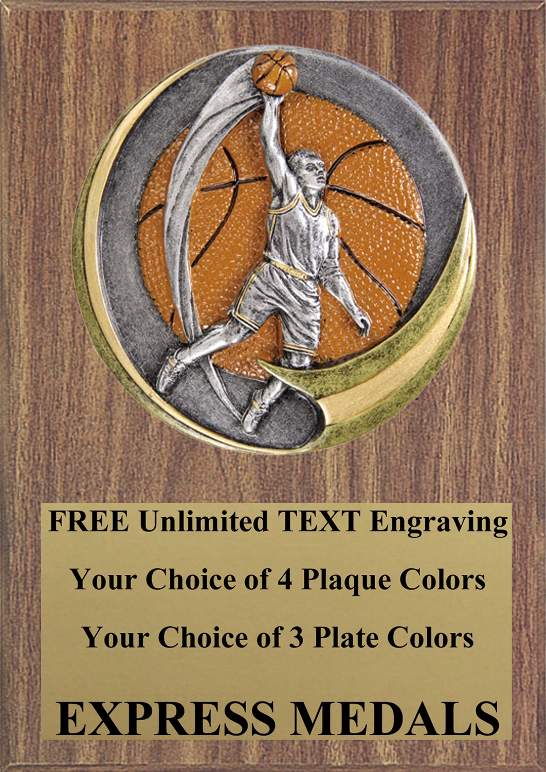 Motion Extreme Male Basketball Plaque 4x6 & 5x7 MX107-VL