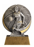 "5"" Motion Xtreme Girls Basketball Trophy"