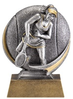 "5"" Motion Xtreme Girls Tennis Trophy"
