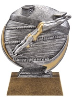 "5"" Motion Xtreme Girls Swimming Trophy"