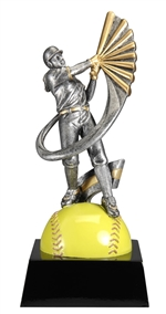 "8-1/2"" Motion Xtreme Female Softball Trophy"