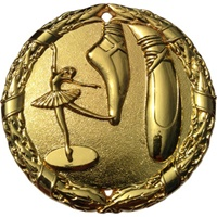 "2"" Shiny Wreath Ballet Medal NS04"