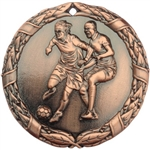 "2"" Shiny Wreath Soccer Medal NS10"