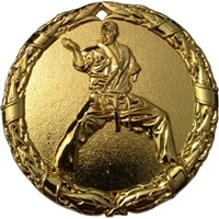 "2"" Shiny Wreath Martial Arts Medal NS14"
