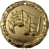 "2"" Shiny Wreath Music Medal NS15"