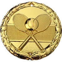 "2"" Shiny Wreath Tennis Medal NS19"
